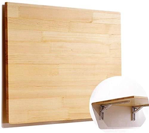 ZXYY Mesa Plegable de Hoja abatible montada en la Pared con 2 Soportes metalicos Mesa de Estudio de Cocina Comedor Escritorio portatil Plegable para Espacios pequenos Opcional de Varios tamanos (