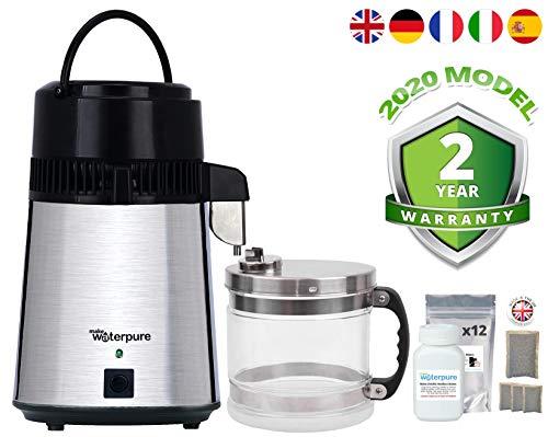 Destilador de agua + jarra de cristal de 4 litros, la mejor calidad sswd + 12 Filters