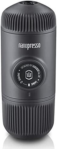 WACACO Nanopresso Portable Espresso Maker, Upgrade Version of Minipresso, Extra Small Travel Coffee Maker, Manually Operated. Perfect for Camping, Travel, Kitchen and Office