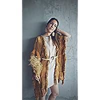 kimono tejido con hilo de algodon