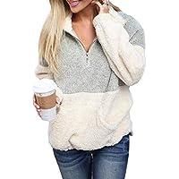 Acelitt Women's Cozy Oversize Fluffy Fleece Sweatshirt Pullover Outwear (18 Color,S-XXL)