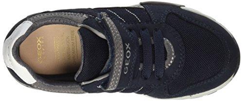 Geox J Alfier a, Zapatillas Para Niños Azul (Navy/grey)