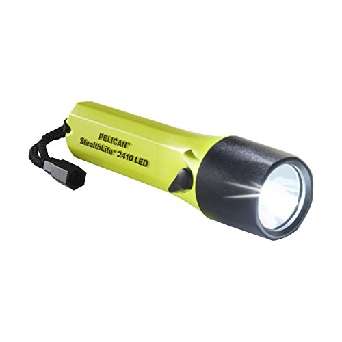 - Pelican StealthLite 2410 LED Flashlight, 183 Lumens, Yellow