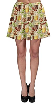 CowCow Womens Wine Glasses Beer Cocktail Alcohol Whisky Drinks Celebration Party Skater Skirt, XS-3XL