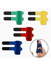 LUTER 4 Pcs Finger Splints Finger Straightener Finger Support Finger Stabilizer Brace for Broken, Strained, Sprained, Swollen Fingers, Arthritis or Tendinitis