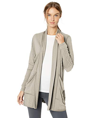 prAna Women's Foundation Wrap, Pebble Grey Heather Stripe, Small