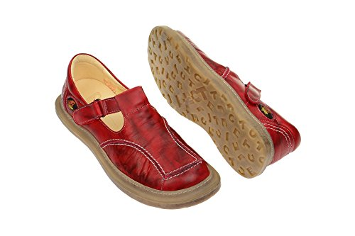 001 Eject Women's Red 7573 Flats Loafer SnExT4n