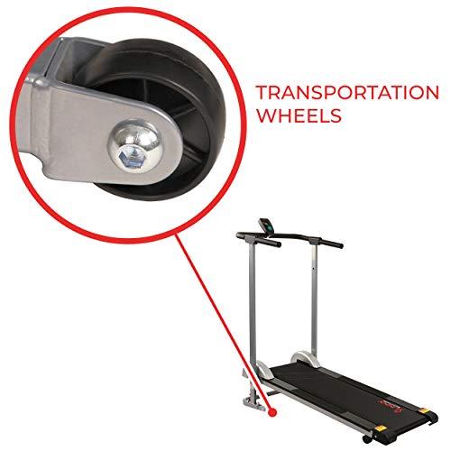 Sunny Health & Fitness SF-T1407M Manual Walking Treadmill, Gray by Sunny Health & Fitness (Image #6)