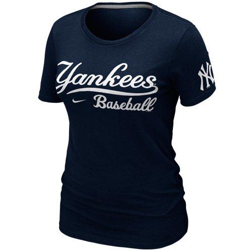 NIKE MLB York Yankees Womens 2012 Baseball Practice T-Shirt - Navy Blue (X-Large)