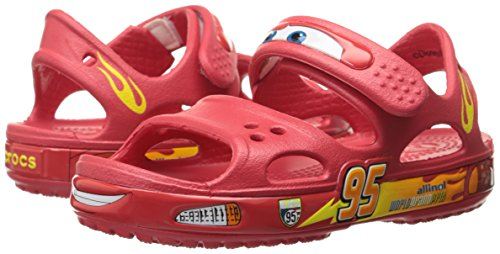 Crocs Crocband II Cars Sandal (Toddler/Little Kid), Red, 6 M US Toddler by Crocs (Image #6)