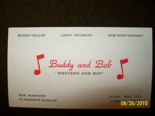 - Buddy Holly's Early Business Card