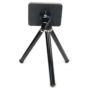 MINI TRÍPODE para Samsung i9300 Galaxy S3/ S2 / S4 Samsung Galaxy Note2, iPhone 3/4/ 4S/ 5/ HTC S720E UNO X SONY y todas las cámaras digitales pequeñas, regulable en altura (48mm-80.5mm)