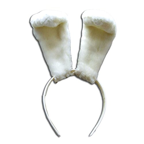 CHIUS Cosplay Costume Accessory White Rabbit Ears Hairdress Hair Bands