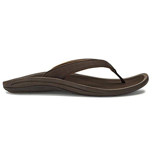 OluKai Frauen Kulapa Kai Sandale Dunkles Java / Holz