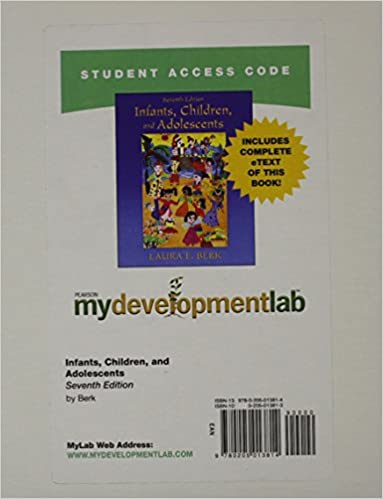 Amazon mydevelopmentlab with pearson etext standalone access amazon mydevelopmentlab with pearson etext standalone access card for infants children and adolescents 7th edition 9780205013814 laura e fandeluxe Image collections
