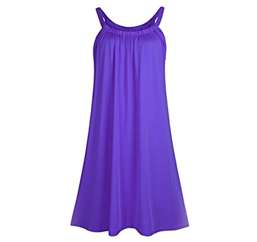 Big Yards Women's Clothing Loose Condole Belt Dress (L, Purple) by hezhimu