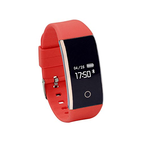 (0.66'' OLED Bluetooth Smart Watch - Step Counter/Sound Recorder/Remote Control/Alarm/Pedometer/Heart Rate Function Kari-171)