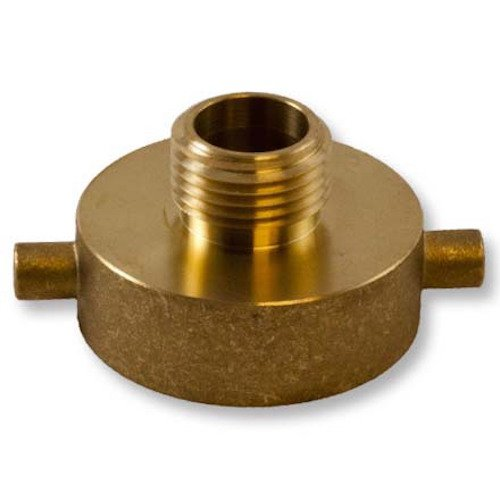 Brass Pin Lug 1 1/2'' Female NH to Male Garden Hose Threaded Adapter