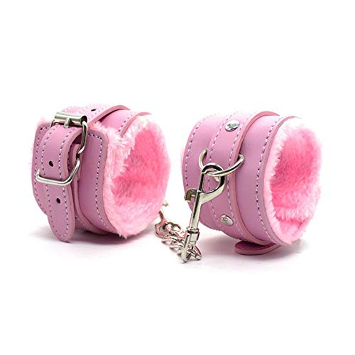 Taykoo Adult SM Products Bundled and Bonding Band Adjustable Leather Plush Handcuffs and Shackles
