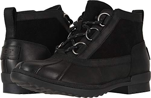 (UGG Women's W Heather Boot Fashion, Black, 7.5 M US)