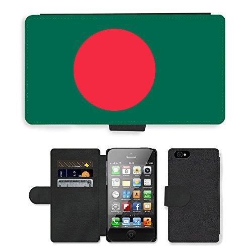 GoGoMobile PU Leather Flip Custodia Protettiva Case Cover per // V00001014 Drapeau Bangladesh // Apple iPhone 4 4S 4G
