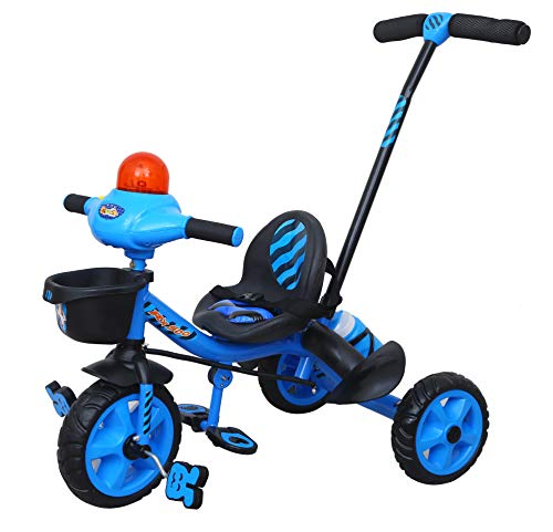 Luusa Tricycle Lovely Bike for Kids with Musical Horn and Parental Control  Blue