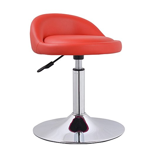 Red Gas Lift Stools - Swivel bar stools chairs, Adjustable height Kitchen chair Breakfast stools Bar stools with back Adjustable swivel gas lift-red