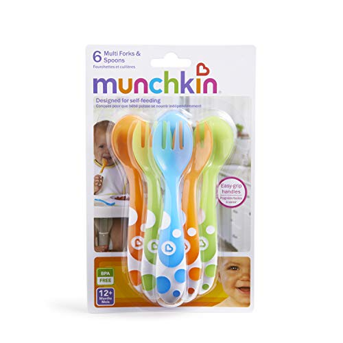 Large Product Image of Munchkin 6 Piece Fork and Spoon Set