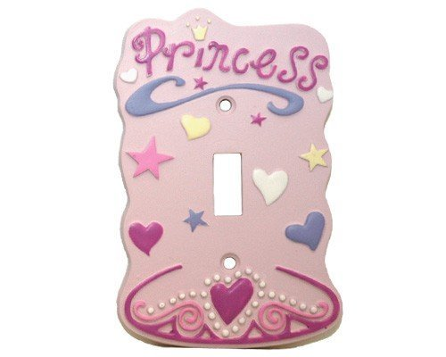 Pink Princess Single Light Switch Plate Cover Girls -
