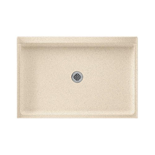 Swanstone SS-3248-050 Solid Surface Center Drain Shower Base, 48-Inch by 32-Inch by 5-1/2-Inch, Tahiti Desert (Fiberglass Swanstone Shower)
