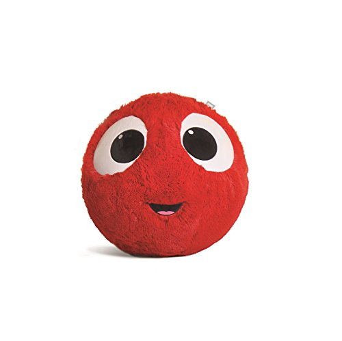 Fuzzbudds Inflatable Plush Bouncy Balls for Kids, Red, Mini (Play Fitness Ball)