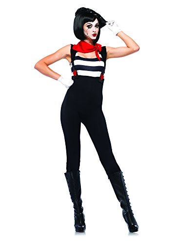 Leg Avenue Women's 3 Piece Marvelous Mime Costume, Black, X-Large -