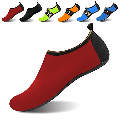 Water All On Yoga NeuFashion Design Aqua Shoes Quick Barefoot Dry Shoes Red Shoes Slip Sports Outdoor Diving Socks dqnWHaq4zw