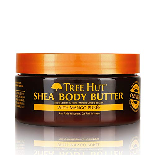 (Tree Hut 24 Hour Intense Hydrating Shea Body Butter Tropical Mango, 7oz, Hydrating Moisturizer with Pure Shea Butter for Nourishing Essential Body Care)