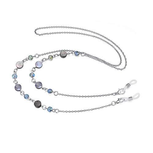 Eyeglass Chain Strap Holder Cord Fashion Eyewear Retainer Crimmy Reading Eyeglass Necklace(beads shell)