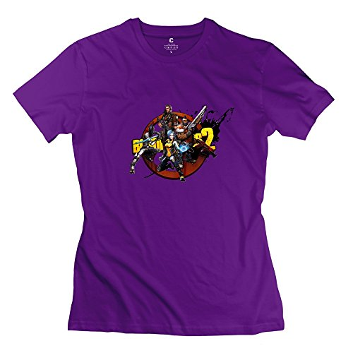 StaBe Girls Borderlands 2 T-Shirt Slim Fit Swag XL Purple -
