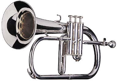 Surbhi Music Silver Chrome Flugel Horn Bb Flat With Free Case Box & Mouth Pc. by Surbhi Music