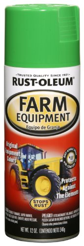 Rust-Oleum Automotive 249276 12-Ounce John Deere Farm Equipment Spray, Green (Equipment Green Lawn)