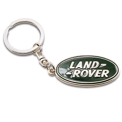 Land Rover Logo de metal cromado Llavero Llavero: Amazon.es ...