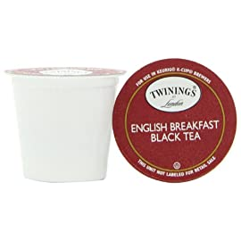 Twinings English Breakfast Tea Keurig K-Cups, 48 Count 1 48 Count Twinings English Breakfast Tea Keurig K-Cups Each of the 2 boxes contains 24 K-Cups No mess design protects from air, light and moisture