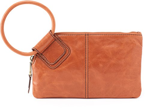 Hobo Women's Leather Sable Wristlet Clutch Wallet (Clay) by HOBO