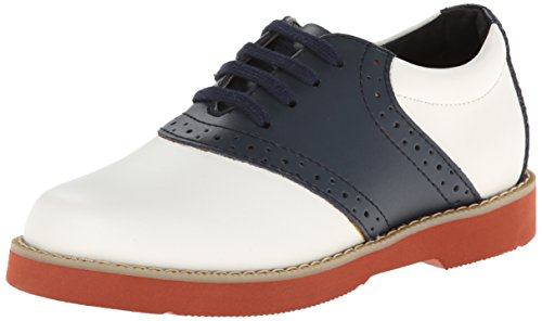Dress White Shoes Navy (Academie Gear Spirit Saddle Shoe (Toddler/Little Kid/Big Kid),White/Navy,10.5 W US Little Kid)