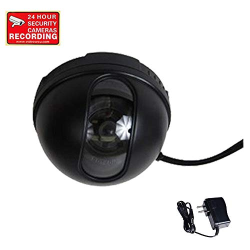 VideoSecu Dome Security Camera 3.6mm Wide View Angle Lens 420TVL CCD CCTV for Home Surveillance DVR System with Power Supply and Free Warning Sticker DM35B M9Z