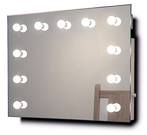 Diamond X Wallmount Hollywood Makeup Mirror with Dimmable LED k95CW