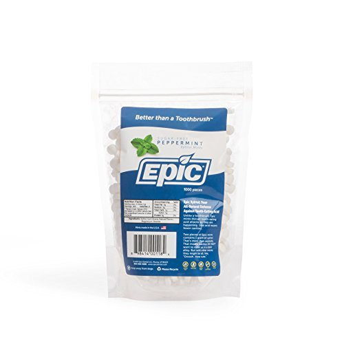 (Epic Dental 100% Xylitol Sweetened Breath Mints, Peppermint Flavor, 1000 Count)