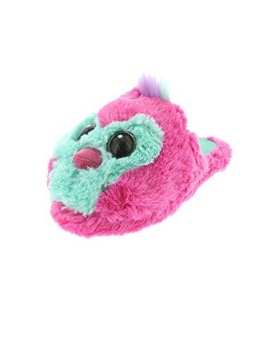 Hatchimals Draggle Pengualas Girls Plush Scuff Slippers (13-1 M US Little Kid, Pink)