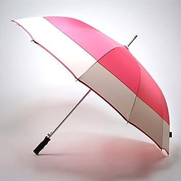 FYios Paraguas de lluvia Unisex mango de manga larga, fuertes a prueba de viento paraguas