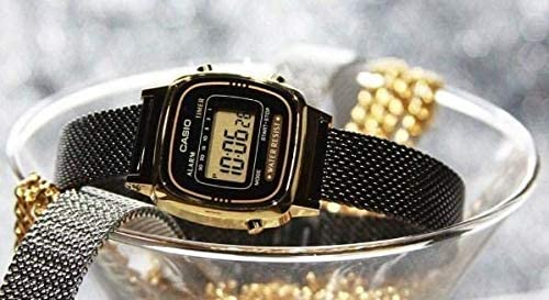 Casio Montre Casio Collection Maille milanaise Noire (la670wemb 1ef)