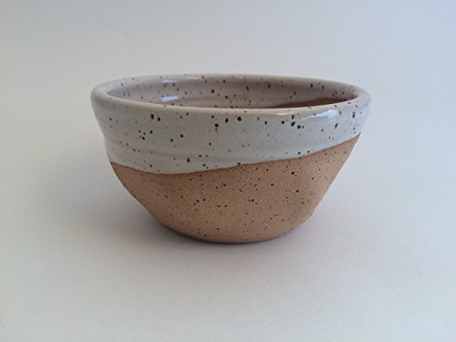 Best Grip and Lather Shave Bowl - Speckled White Handmade Pottery