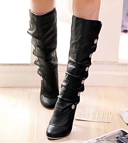 AIYOUMEI Women's Classic Boot Black yrTDR6KI